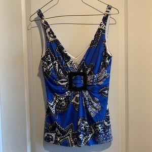 Cache Dressy Tank Top - Pattered - Size Small